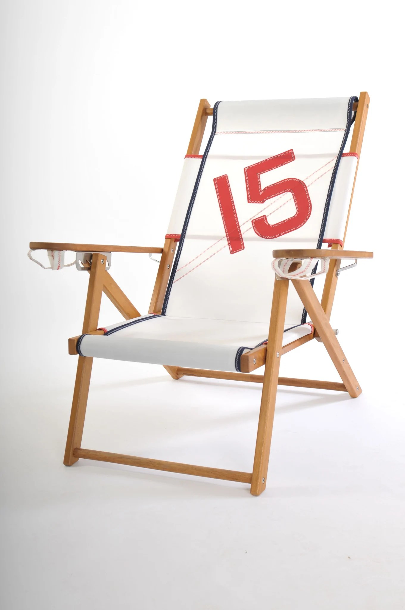 cape cod beach chair red living room nautical line surfside recliner company