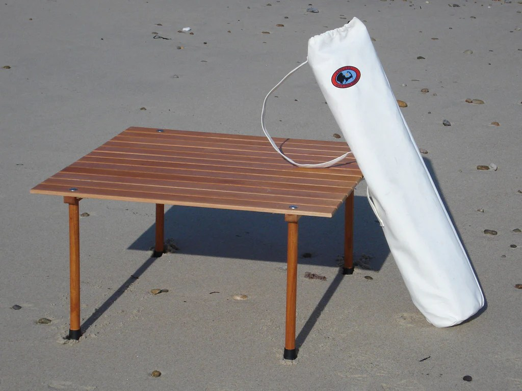 nantucket beach chair company spindle back dining roll up table in a bag cape cod