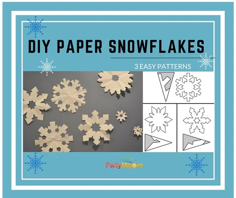 DIY  Make Easy  Pretty Paper Snowflakes  Party Majors