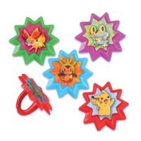 Cupcake Favor Rings - Pokemon (24)  Party Majors