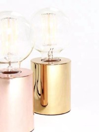 Sil Table Lamp, Rose Gold | Desk Lamp, Bedside Lamp, Table ...