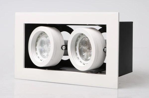 LED recessed Adjustable Spotlight Double Downlights GU10