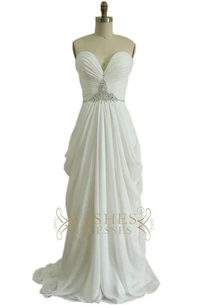 Column Strapless Chiffon Prom Dress with Beaded Belt Am477