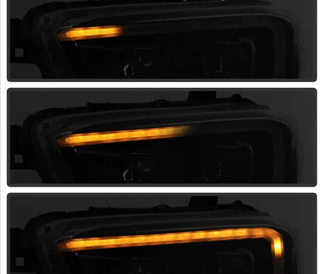 16 18 Projector Headlights W Sequential Turn Signal