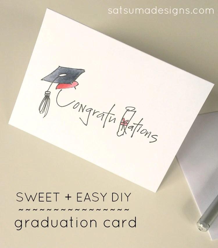 DIY Graduation Card Satsuma Designs