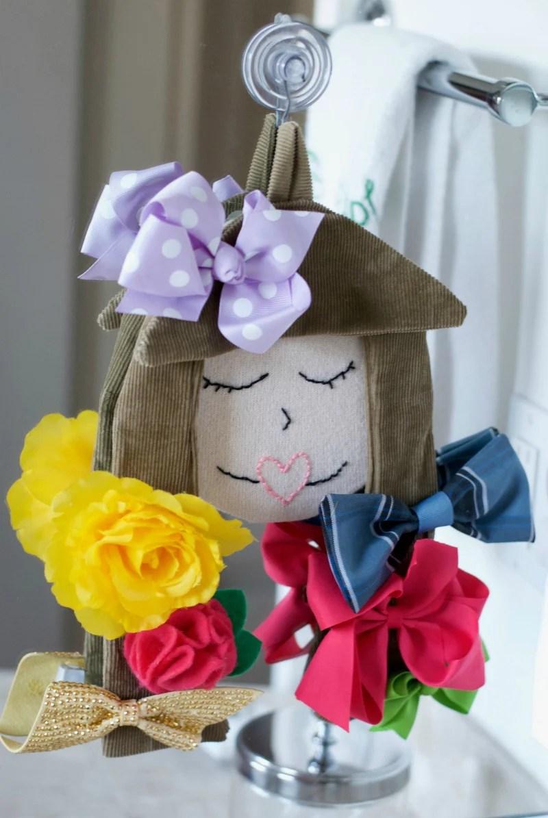 diy hair bow storage doll satsuma