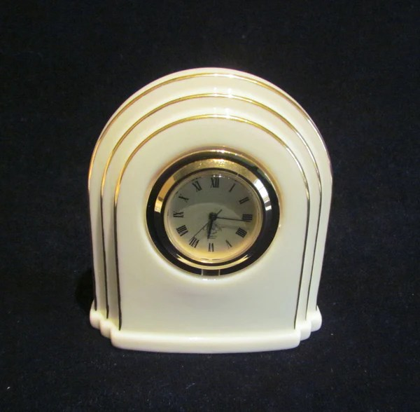 Lenox Quartz Clock Art Deco Style Working Clock Mint