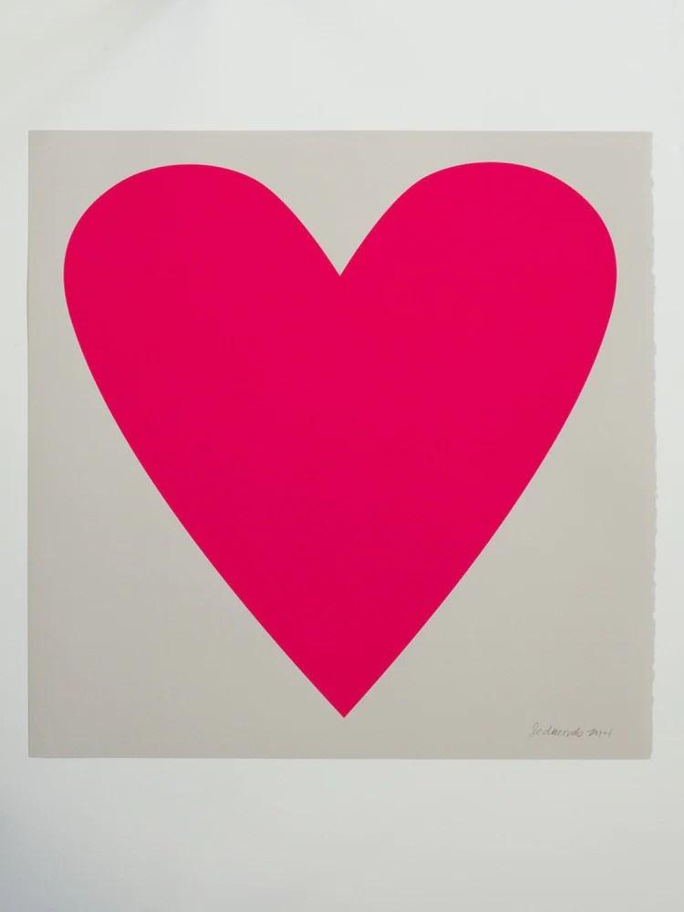 neon heart print