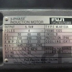 220v 3 Phase Motor Wiring Diagram Mopar Ignition Fuji Electric 3-phase Induction Type Mla8133a – Pfipcb