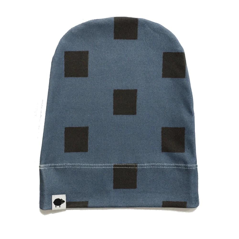 blue blocks beanie