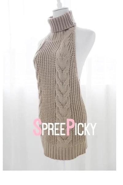 FreeShipping Virgin Killer Sweater Dress SP178781