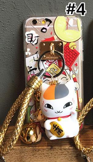 Nyanko Sensei Lucky Fortune Cat Finger Ring Holder Phone Case SP165061 SpreePicky