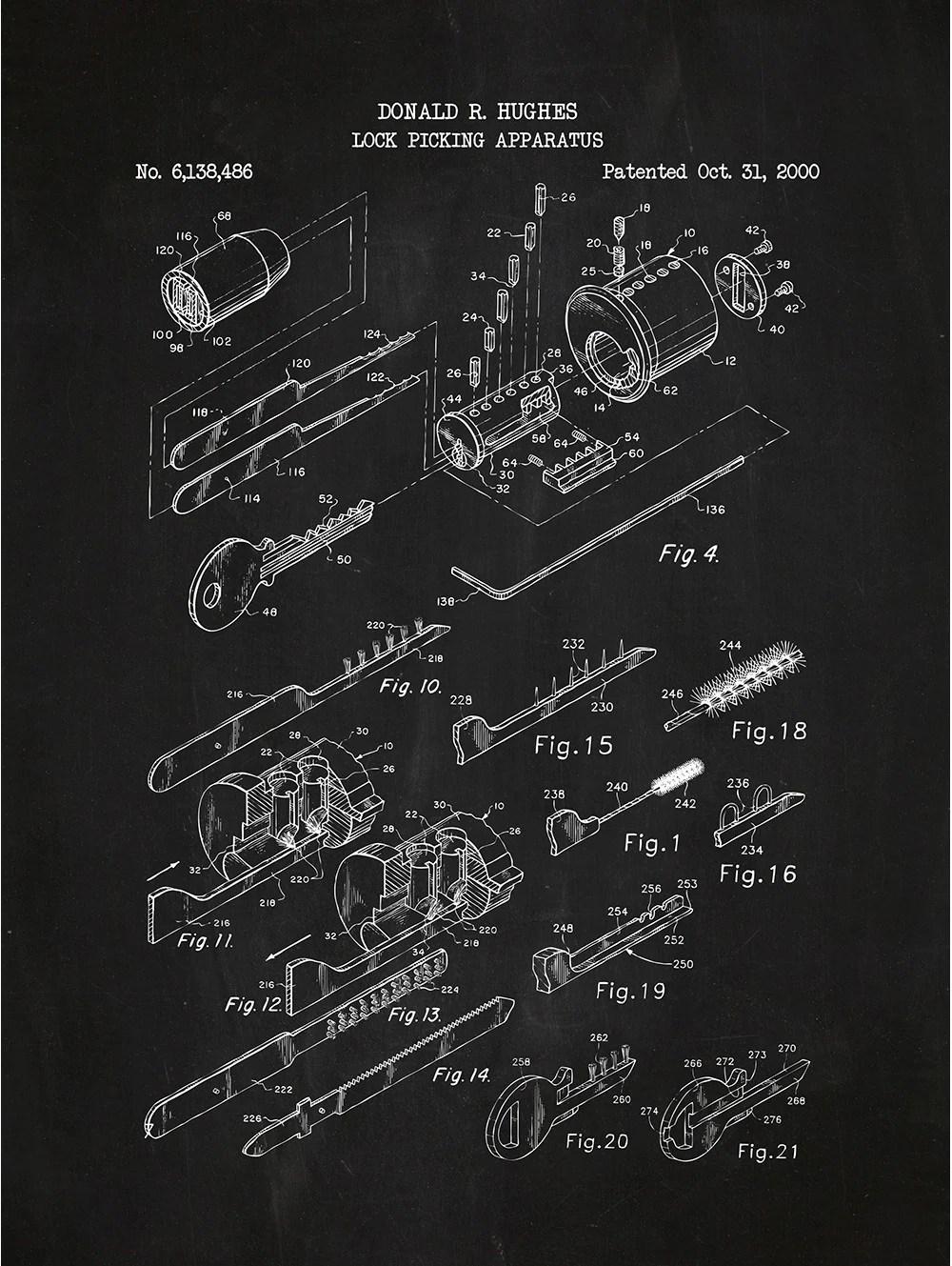 lock picking apparatus donald r hughes 2000 [ 1000 x 1329 Pixel ]