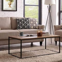 Black Living Room Tables Pics Of Modern Rooms Table Industrial Style Metal Box Frame Wood Ids Online Shop