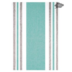 Gray Kitchen Towels High Flow Rate Faucets French Tea Jacquard I Dream Of France Harmony Roma Linen Towel Aqua And