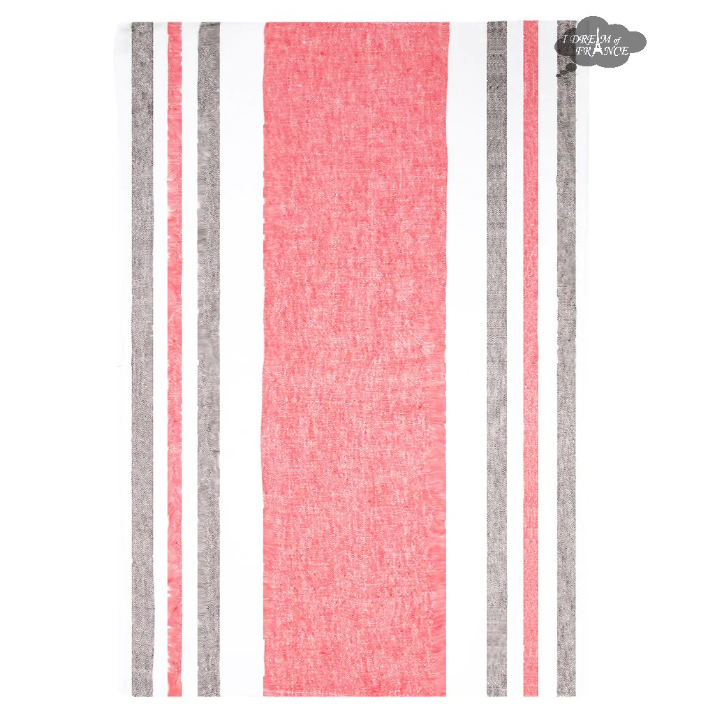 kitchen towel sink cabinets french tea towels jacquard tagged pink i harmony roma linen crumberry and gray