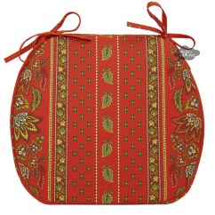 French Country Kitchen Chair Cushions Rent Covers Birmingham Al Lisa Red Coated Style Pad By Le Cluny I