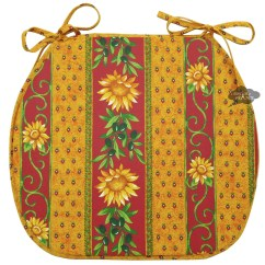 French Country Kitchen Chair Cushions Personalized Bean Bag Sunflower Red Coated Style Pad By Le Cluny
