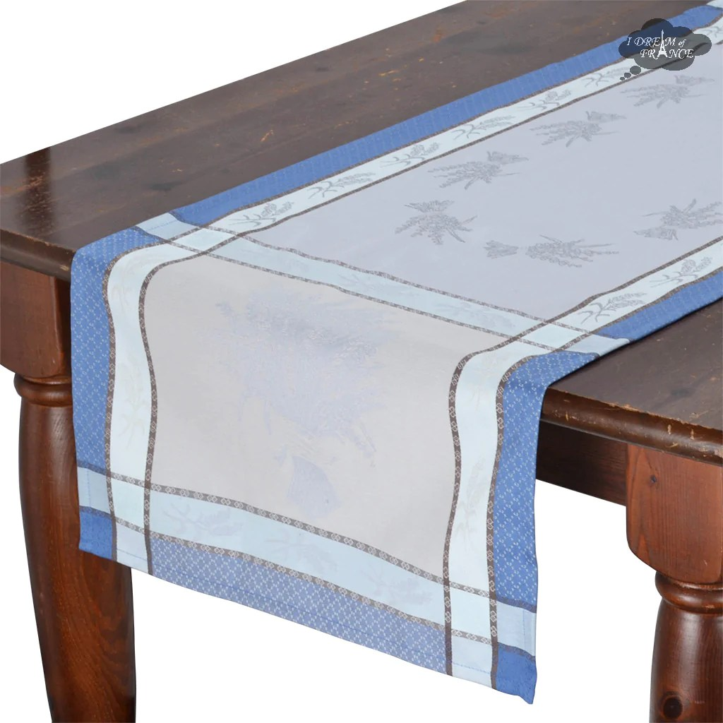 sofa table runners bed leather ebay 20x64 cotignac blue french jacquard runner i dream of france