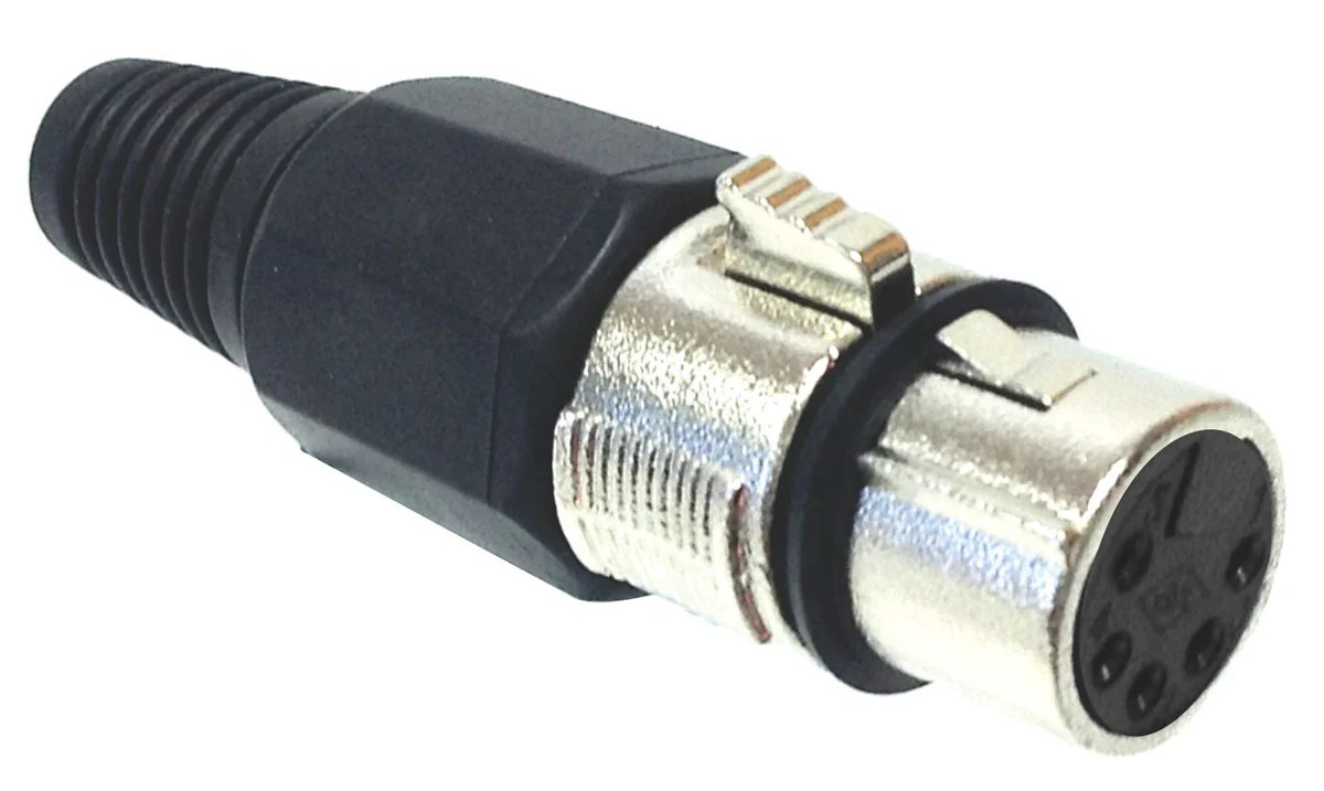 small resolution of 5 pin female xlr connector nickel american recorder technologies inc
