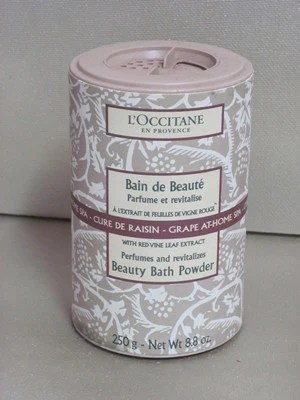 LOccitane Grape AtHome Beauty Bath Powder  Discontinued Beauty Products LLC