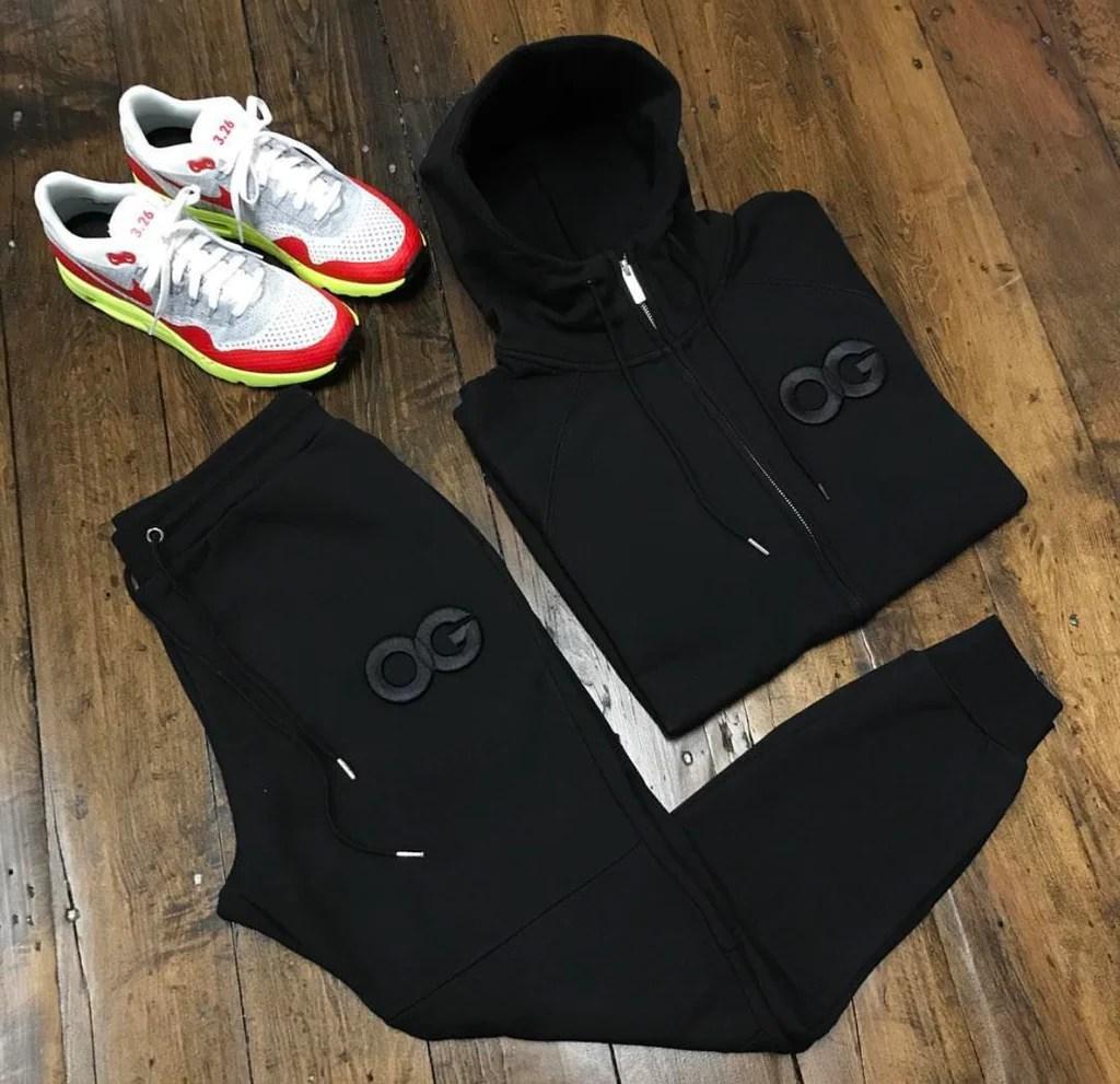 Og Sweatsuit Black Jacket & Joggers Live-kickz