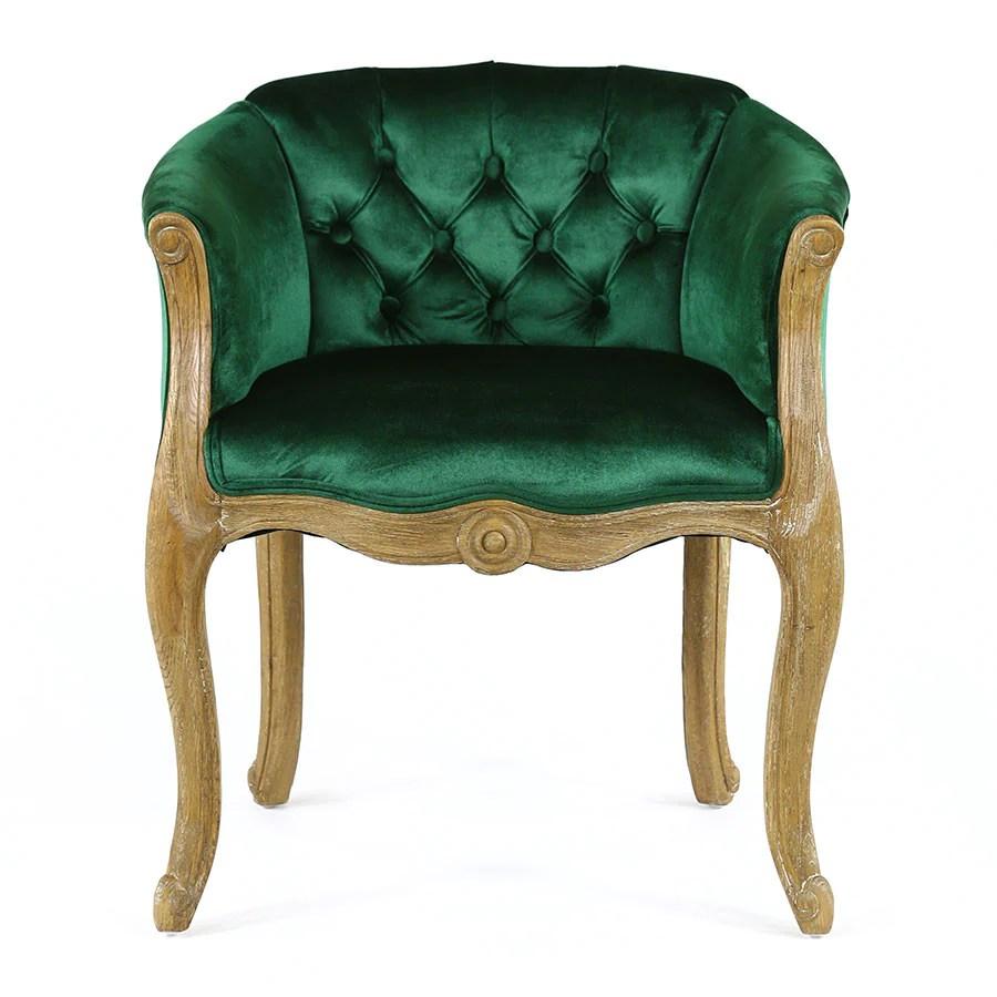 Cabriole Elizabeth Chair Emerald  Black Mango
