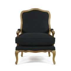 French Provincial Adele Occasional Chair Fancy Dining Chairs Black Mango