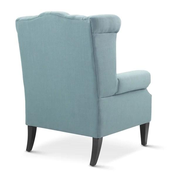 Royale Wingback Arm Chair Teal  Black Mango