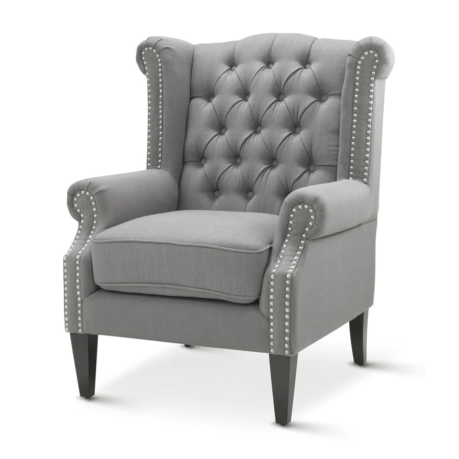 White Wing Chair Royale Wingback Arm Chair Wolf Grey