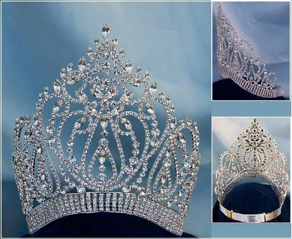 Adjustable Contoured Miss Beauty Pageant Queen Rhinestone