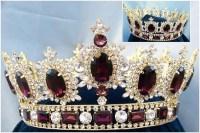 Men's Rhinestone Gold full Amethyst Purple Royal Premium ...