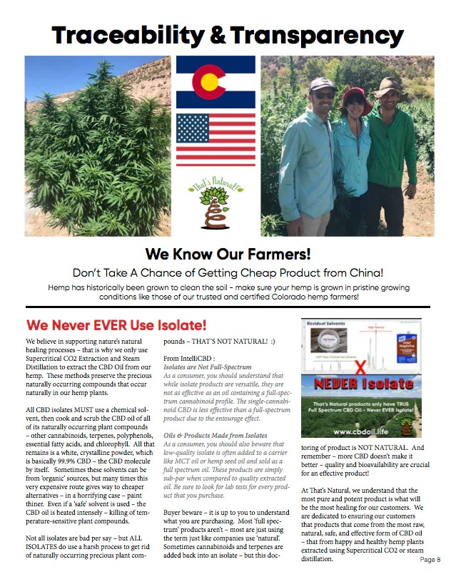 Never use CBD isolate - family-owned CBD company, legal hemp CBD, hemp legal in all 50 States, hemp-derived CBD, Thats Natural topical CBD products, create Life Force with biodynamic Colorado hemp - That's Natural CBD Oil from hemp - whole plant full spectrum cannabinoids and terpenes legal in all 50 States - www.cbdoil.life, cbdoil.life, www.thatsnatural.info, thatsnatural.info, CBD oil testimonials, hear from customers of CBD oil products