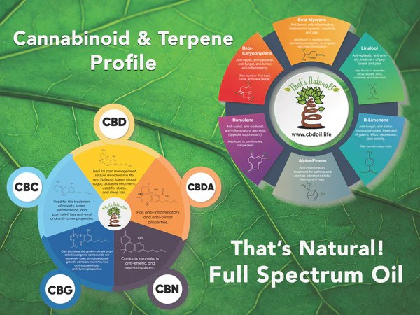 The That's Natural cannabinoids include: CBD (Cannabidiol), CBDa (Cannabidiolic Acid), CBC (Cannabichromene), CBG (Cannabigerol), and CBN (Cannabinol) - see more from Thats Natural at www.cbdoil.life and www.thatsnatural.info  see more from Thats Natural at www.cbdoil.life and find us an our Life Force Market outside of Basalt, Colorado in the Aspen Valley next to the Willits Gas Station #ThatsNatural #lifeforce #cod #cbdoil  www.thatsnatural.info