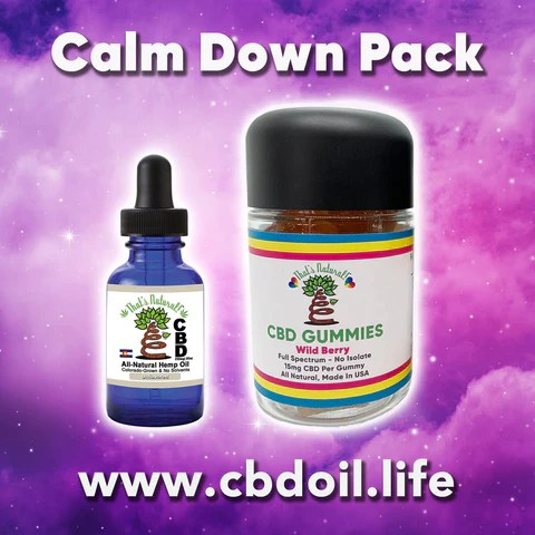 That's Natural CBD Calm Down Pack - most trusted CBD, best rated CBD, CBD for sleep, CBD for stress, CBD for anxiety, CBD for PTSD at www.cbdoil.life and cbdoil.life blog at www.thatsnatural.info and thatsnatural.info