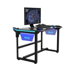 Gamer Computer Chair Glass Kitchen Tables And Chairs E Blue Wireless Glow Gaming Desk Champs