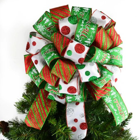 christmas tree bow with