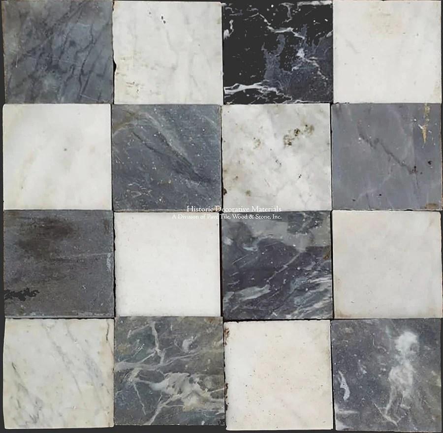 antique italian black and white nero bianco carrara marble checkered stone floors sold