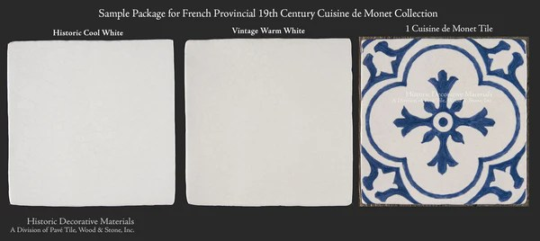 Monet's Blue And White Decorative Wall Tiles For Kitchens