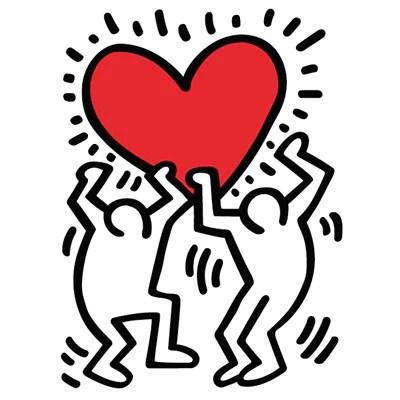 Riproduzione di keith haring intitolata la danza, con dimensioni : Wall Decals Keith Haring Pop Shop