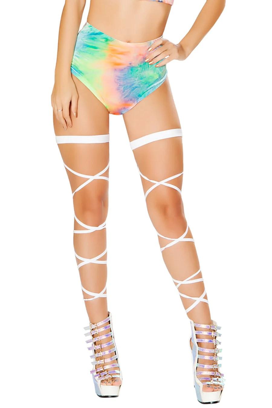 High Waisted Rave Shorts EDC Shorts For Girls Hologram