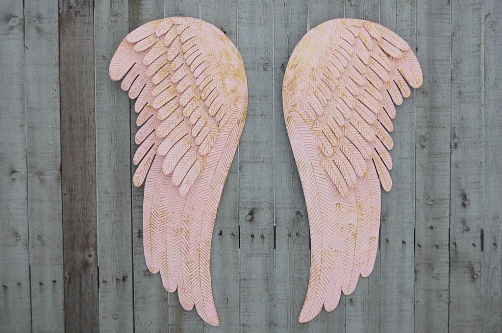 Rustic pink angel wings  The Vintage Artistry