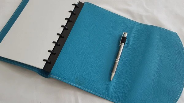 Double WrapAround Leather Discbound Notebook Cover