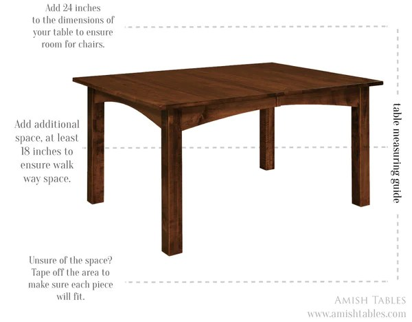 table seating seating measurement