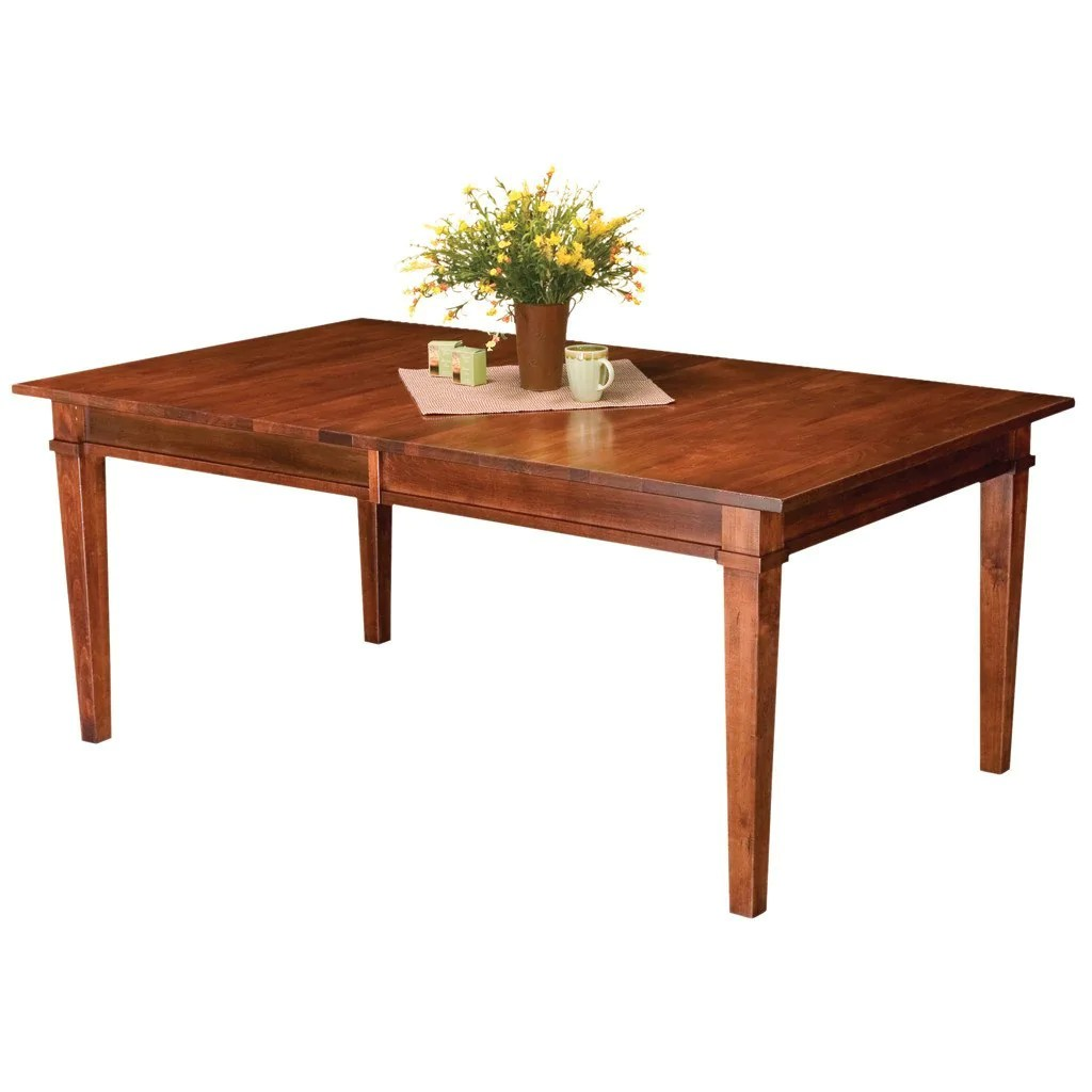 Solid Wood Extension Dining Table  The Ethan Leg