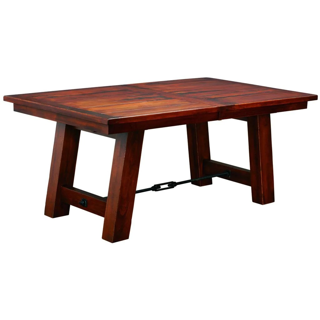 Ouray Trestle Extension Table  Amish Solid Wood Tables