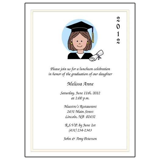 Cartoon Person Graduation Invitation Or Announcement
