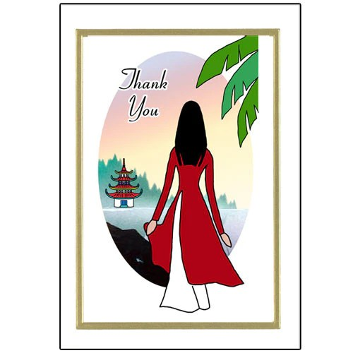 Vietnamese Thank You Note Cards Mandys Moon Personalized