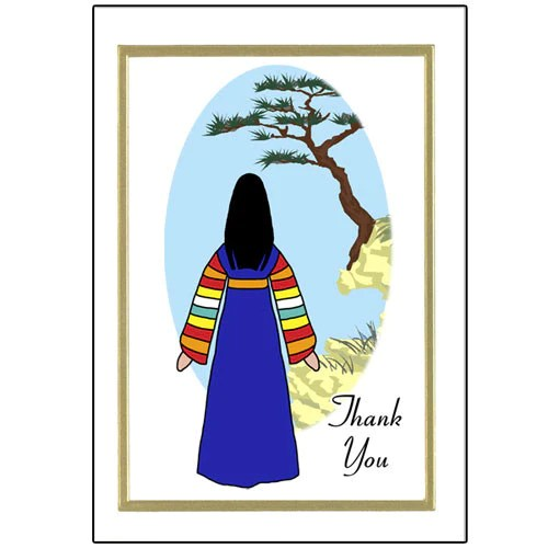 Korean Thank You Note Cards Mandys Moon Personalized Gifts