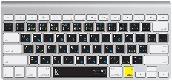 Macbook czech keyboard layout